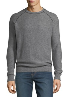 Neiman Marcus Men's Cashmere-Jersey Topstitch Sweater
