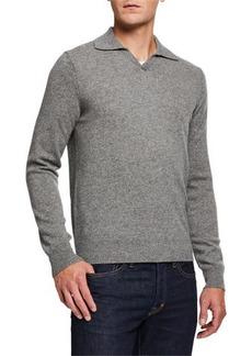 Neiman Marcus Men's Cashmere Johnny-Collar Sweater