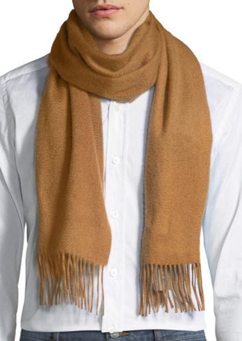 Neiman Marcus Men's Cashmere Solid Fringe Scarf