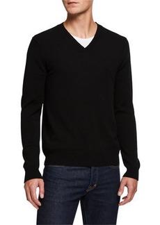 Neiman Marcus Men's Cashmere V-Neck Sweater