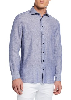 Neiman Marcus Men's Casual Stripe Shirt