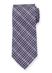 Neiman Marcus Men's Check Pattern Silk Tie