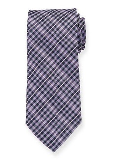 Neiman Marcus Men's Check Pattern Silk Tie