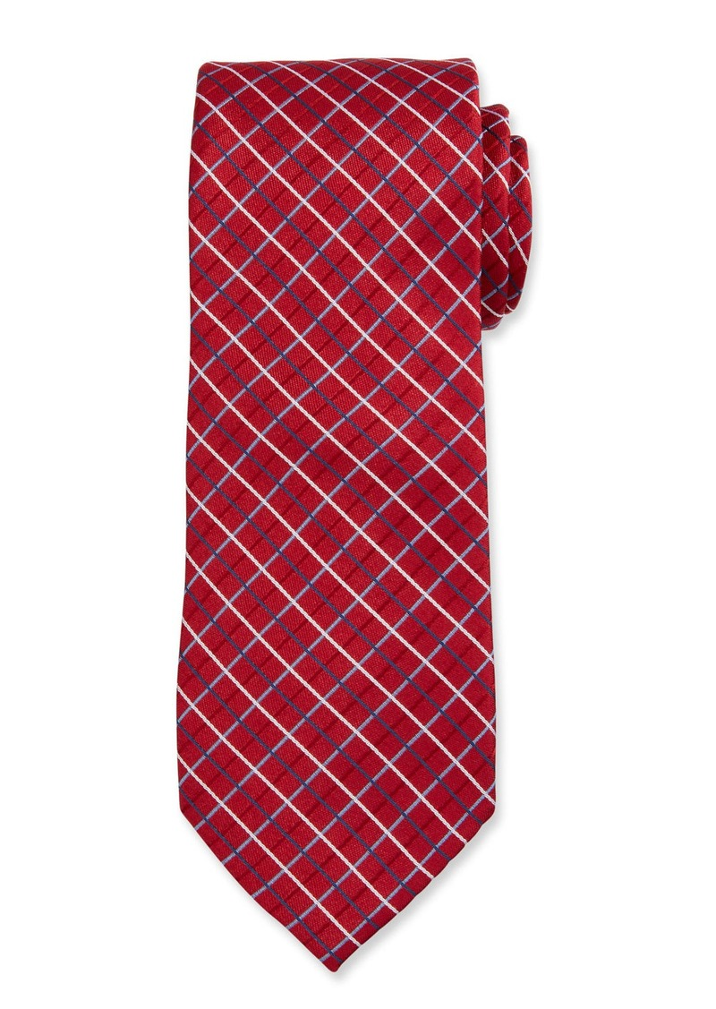 Neiman Marcus Men's Check Silk Tie