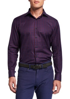 Neiman Marcus Men's Check Sport Shirt