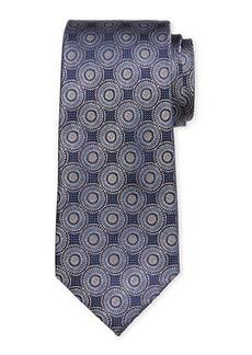 Neiman Marcus Men's Circle Medallion Silk Tie