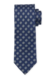 Neiman Marcus Men's Circle Medallion Silk Tie