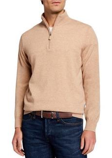Neiman Marcus Men's Cloud Cashmere 1/4-Zip Sweater