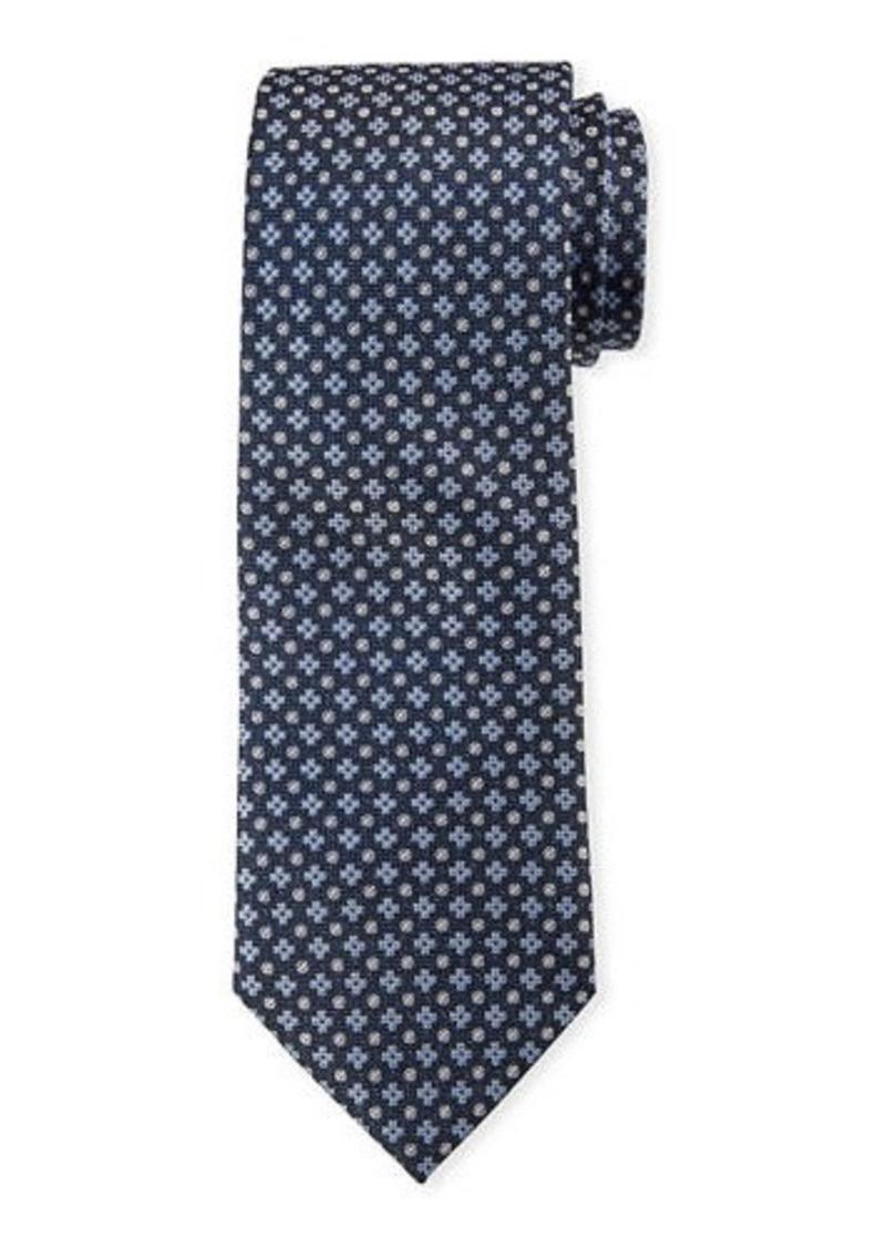 Neiman Marcus Men's Clover/Dot Patterned Silk Tie