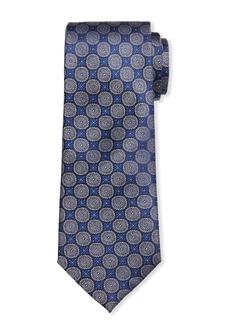 Neiman Marcus Men's Cooke Circle-Print Silk Tie