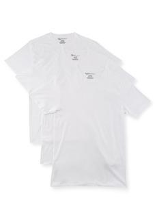 Neiman Marcus Men's Cotton Crewneck T-Shirt  3-Pack