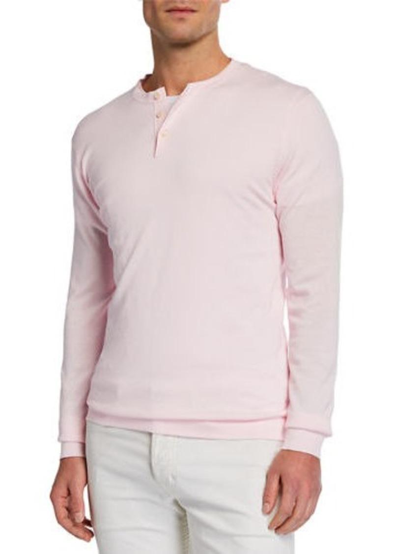 Neiman Marcus Men's Cotton Henley Shirt