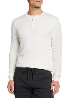 Neiman Marcus Men's Cotton Henley Shirt