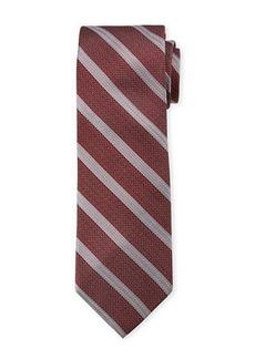 Neiman Marcus Men's Diagonal Striped Silk Tie