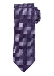 Neiman Marcus Men's Dotted Micro-Woven Silk Tie