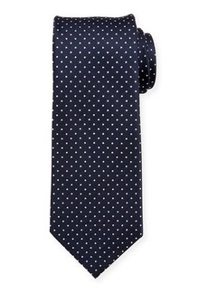 Neiman Marcus Men's Dotted Silk Tie