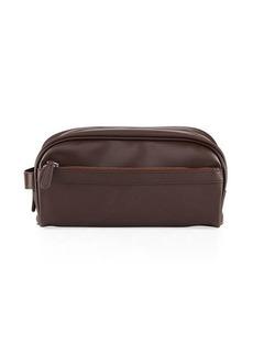 Neiman Marcus Men's Faux-Leather Travel Toiletry Case