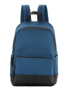 Neiman Marcus Men's Faux-Leather Trim Backpack