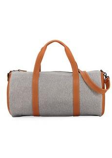Neiman Marcus Men's Faux-Leather Trim Duffel Bag