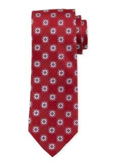 Neiman Marcus Men's Floral Medallion Silk Tie