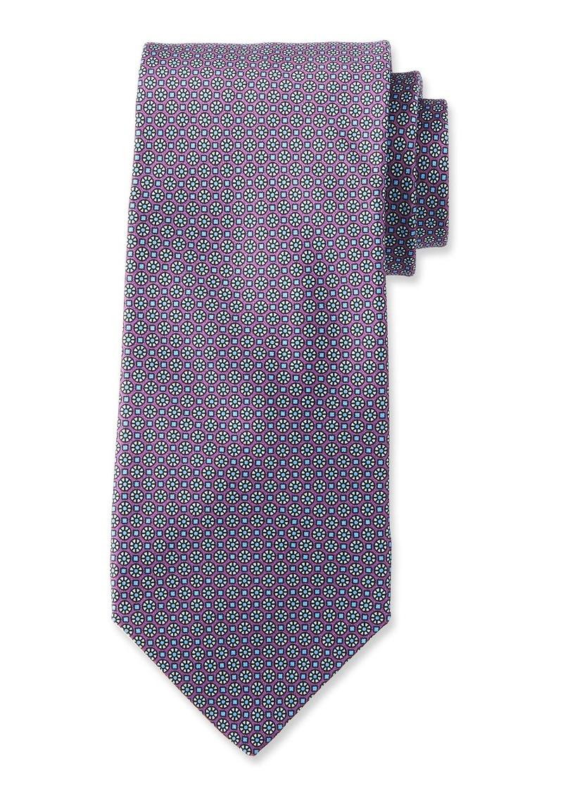 Neiman Marcus Men's Floral Neat Pattern Silk Tie
