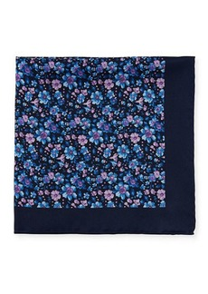 Neiman Marcus Men's Floral Silk Pocket Square