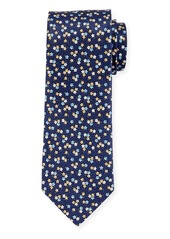 Neiman Marcus Men's Floral Silk Tie