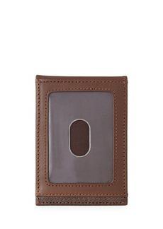 Neiman Marcus Men's Front-Pocket Leather Bi-Fold Wallet