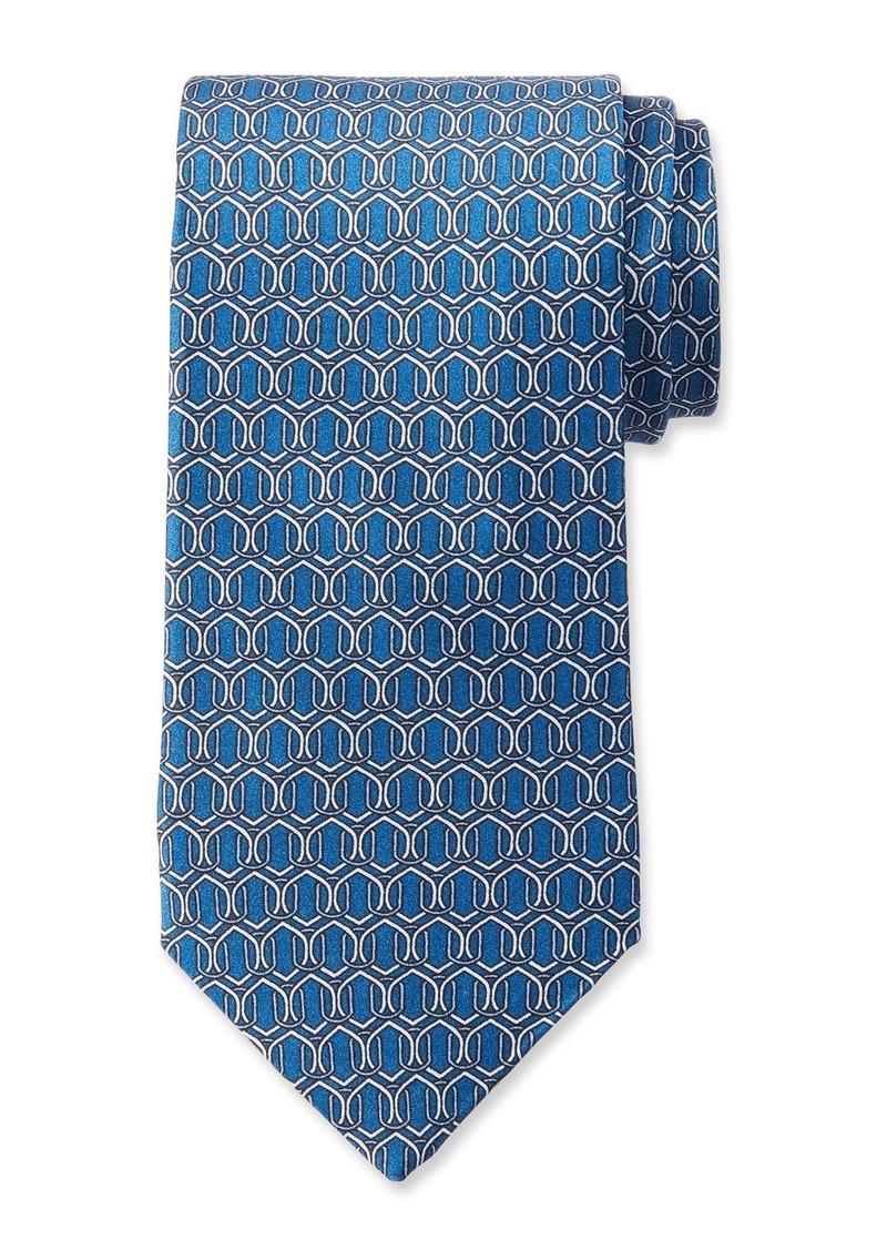 Neiman Marcus Men's Geo Link Pattern Silk Tie