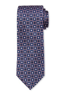 Neiman Marcus Men's Geometric Neat-Print Silk Tie