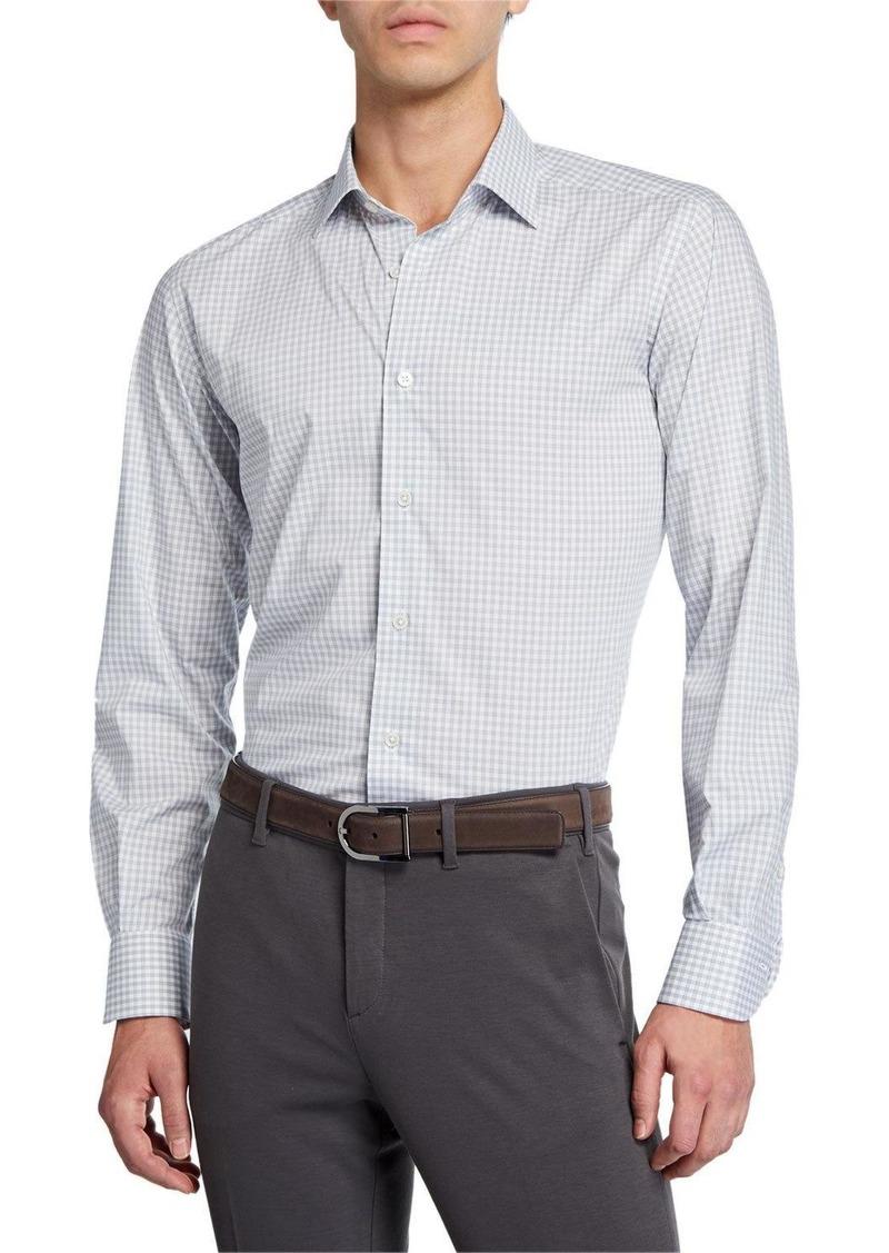Neiman Marcus Men's Gingham Sport Shirt