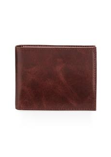 Neiman Marcus Men's Glazed Leather Bi-Fold Passcase