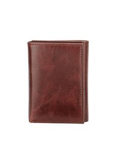 Neiman Marcus Men's Glazed Leather Tri-Fold Wallet
