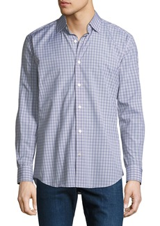 Neiman Marcus Men's Glen Plaid Cotton Sport Shirt