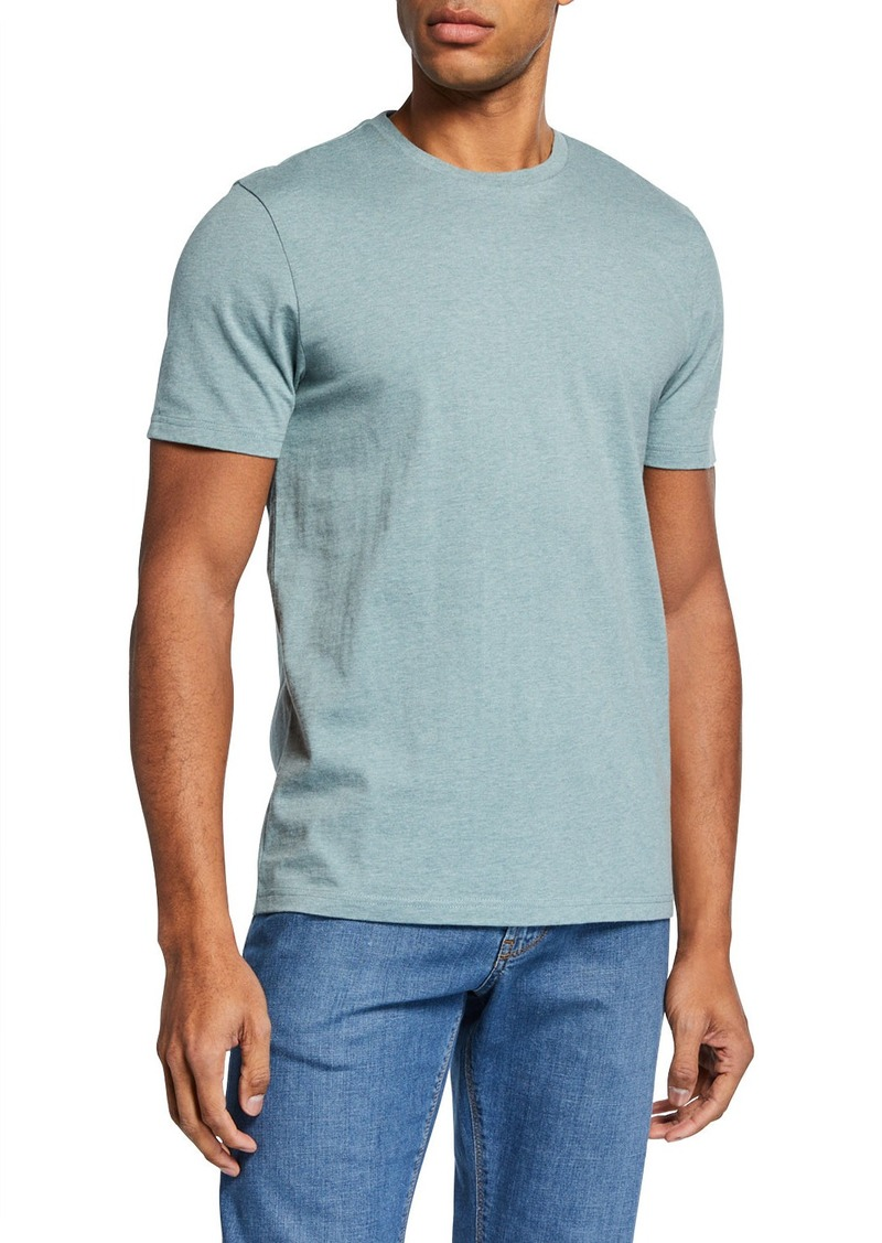 Neiman Marcus Men's Heathered Cotton T-Shirt