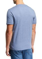 Neiman Marcus Men's Heathered Cotton T-Shirt