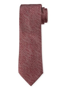 Neiman Marcus Men's Heathered Silk Tie