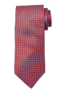 Neiman Marcus Men's High Float Print Silk Tie