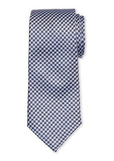 Neiman Marcus Men's Houndstooth Check Silk Tie