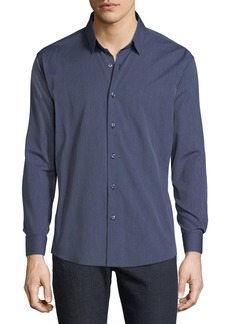 Neiman Marcus Men's Jaspe Stripe Button-Down Sport Shirt