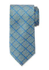 Neiman Marcus Men's Large Neat Pattern Silk Tie