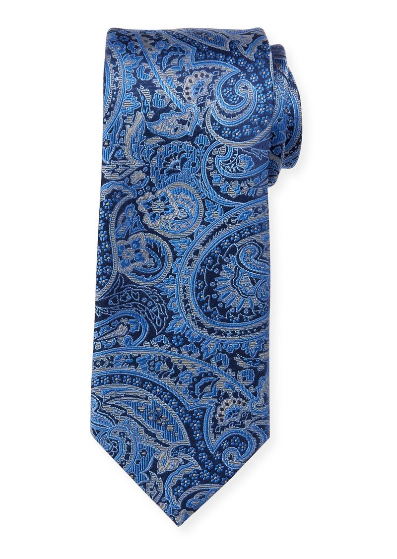 Neiman Marcus Men's Large Tapestry Silk Tie