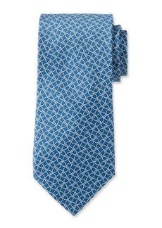 Neiman Marcus Men's Link Pattern Silk Tie