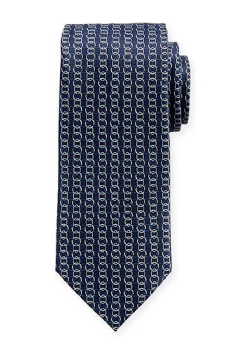 Neiman Marcus Men's Link-Print Silk Tie