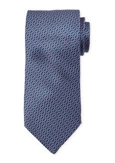 Neiman Marcus Men's Link Print Silk Tie