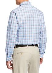 Neiman Marcus Men's Long-Sleeve Plaid Sport Shirt