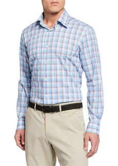 Neiman Marcus Men's Long-Sleeve Plaid Sport Shirt