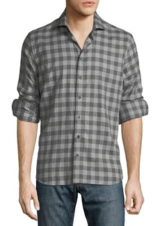 Neiman Marcus Men's Long-Sleeve Woven Button Shirt