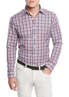 Neiman Marcus Men's Madras Plaid Sport Shirt