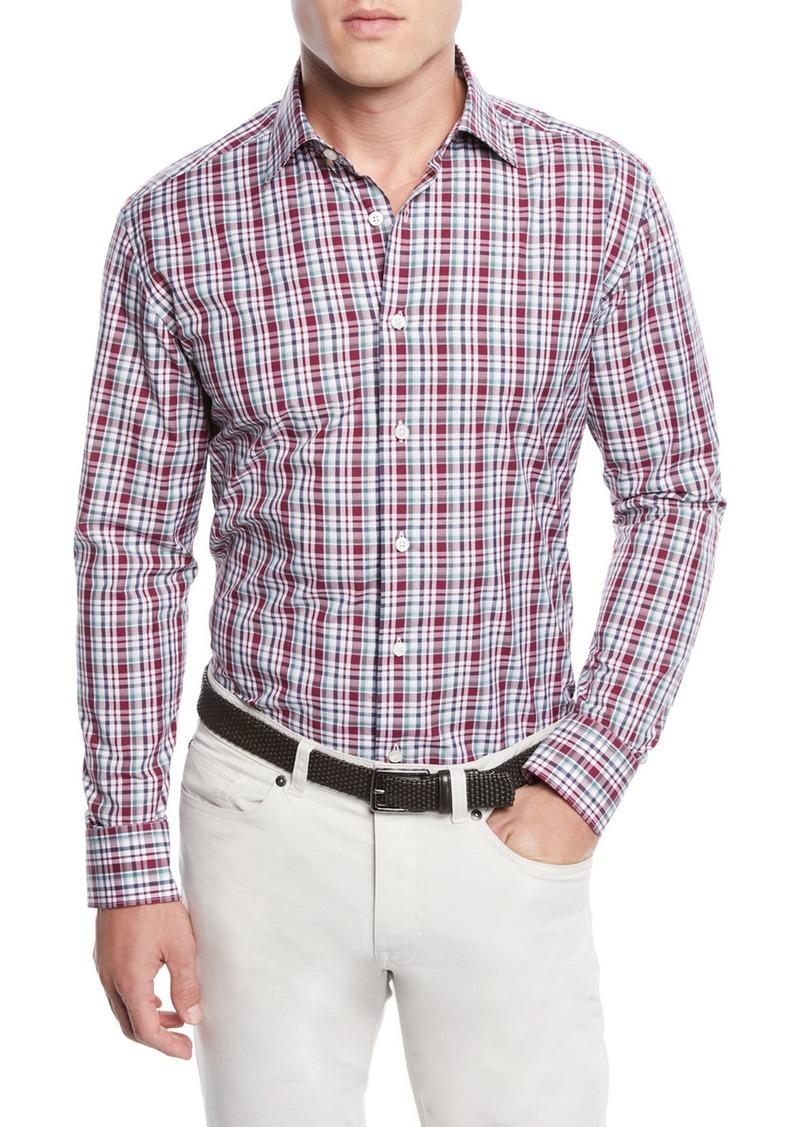 Neiman Marcus Men's Madras Plaid Sport Shirt